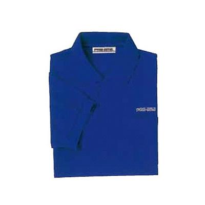 ABS(アメリカン ボウリング サービス) ポロシャツ P-605 ブルー 【Pro-ama ボウリングウェア メンズ レディース ボーリング】の画像