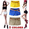 Spring Summer Fashion New Women Slim Fitted Casual Candy Color Shorts Girl High Elastic Hot Short
