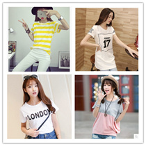 2016 New Arrival Korean Blouse Casual Loose fit T-shirts/Basic Design T-shirts/Casual tops/Clothing