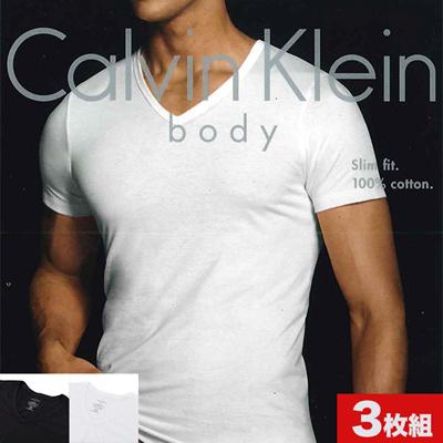 カルバンクライン Calvin Klein(CK) メンズ VネックTシャツ 3枚セット メンズインナー Slim Fit V-Neck(3Pack) U4072の画像