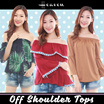 ★7 Dec Updated ★ Off Shoulder Tops | Casual Tops | Long Sleeve | Lace Tops } Ruffled Off Shoulder Tops