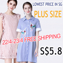 FREE SHIPPING S$5.8 BIG PROMO Q EXPRESS  PLUS SIZE collection high quality dress/tops/blouse/shorts