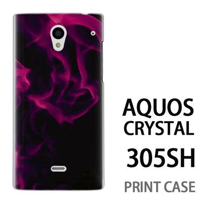 AQUOS CRYSTAL 305SH 用『No3 紫煙』特殊印刷ケース【 aquos crystal 305sh アクオス クリスタル アクオスクリスタル softbank ケース プリント カバー スマホケース スマホカバー 】の画像