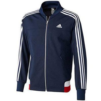 アディダス(adidas) M adidas24/7 アイコニック ウォームアップジャケット ADJ KBY20 S92671 カレッジネイビー/ホワイト 【メンズ ジャージ トレーニングウェア ジャケット】の画像