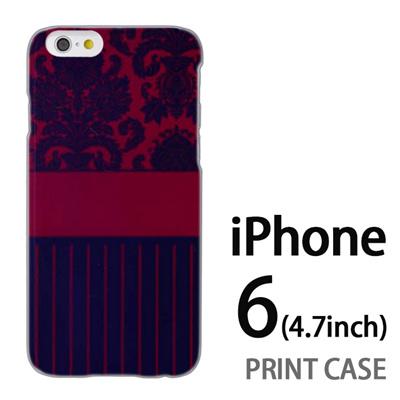 iPhone6 (4.7インチ) 用『1221 絨毯柄 紺』特殊印刷ケース【 iphone6 iphone アイフォン アイフォン6 au docomo softbank Apple ケース プリント カバー スマホケース スマホカバー 】の画像