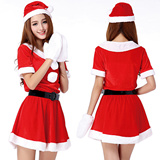 christmas costumes for adults 2015 new Women Christmas Santas Dress Deck the Halls Christmas Costume sexy costumes winter dress suit for below size L