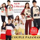 [buy 2 free shipping]2015 New Update!Couple Pajamas/Top and bottom Set/COUPLES SLEEPWEAR/Nightdress/Sleeveless Short-sleeve Long-sleeve Homewear/Cute Cartoon Design/For Man`Woman