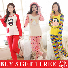 2017 CNY SALE  flat price cute and lovely cartoon pajamas short sleeve nightgown girl pajamas thin women sleepwear female sleepwear factory direct sale women Lingerie long sleeve sleepwear 300 styles
