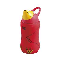 thermo mug サーモマグ アニマルボトル トリ (レッド) 380ml 子供用水筒 ストローボトル キッズ アウトドア
