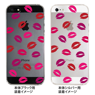 【iPhone5S】【iPhone5】【Clear Fashion】【iPhone5ケース】【カバー】【スマホケース】【クリアケース】【クリアーアーツ】【唇】 ip5-22-ca0012の画像