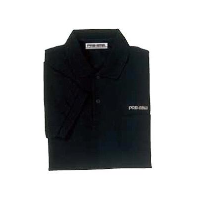 ABS(アメリカン ボウリング サービス) ポロシャツ P-607 ブラック 【Pro-ama ボウリングウェア メンズ レディース ボーリング】の画像