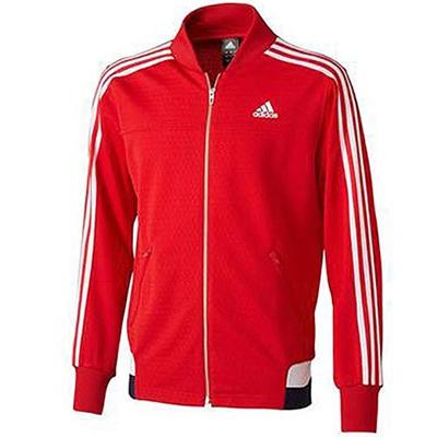 アディダス(adidas) M adidas24/7 アイコニック ウォームアップジャケット ADJ KBY20 S92672 スカーレット/ホワイト 【メンズ ジャージ トレーニングウェア ジャケット】の画像