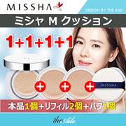 [MISSHA/ミシャ] 1+1+1+1マジック クッション本品+リフィル2個+パフ1個 ジック クッション モイスチャー