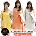 2015 Linen Cotton Dress And Tops Over 20 Design/Hot Japan Styles/ Blouse Basic L0070