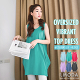 OBDESIGN ★ I.MODA ★ ORANGEBEAR ★ TIG ★ OVERSIZED VIBRANT TOP DRESS ★ F - 4L SIZE ★ PLUS SIZE ★ OFFICE ★ TRAVEL ★ ORANGE BEAR ★ WORK DRESS ★ EVENT ★ HOLIDAY ★ TOPS