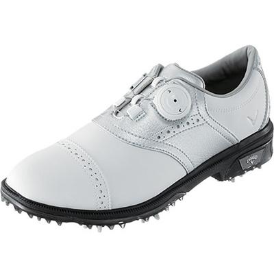 キャロウェイ(Callaway) ウィメンズ ツアースタイル サドル LS 15 JM ゴルフ スパイク WHT/SLV 【レディース 靴 シューズ】の画像