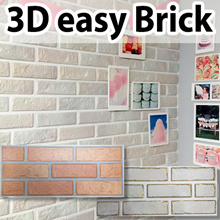 Real 3D Brick sticker wallpaper wall deco korean high quality real 3D DIY brick
