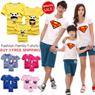 [BUY 3 FREE SHIPPING] 2015 Special Sale!Fashion Family T-shirts/ Various Design/Short sleeve Tee/Couple Wear/Children T-shirts/Cartoon Print Family Tee/Family Wear/For Kids/Women/Men/GROUP:01-GROUP:08