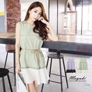 MAYUKI - Sleeveless Dress with Layered Hem-5019191-Winter