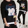 [送料無料]★韓国ファッション 『PINKSISLY』★ミッキーチャンピオン起毛トレーニングセット (PSSEJ274)
