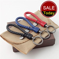 2015 Classic Bottega braided leather Key Chain Ring Arrow Chic  colorful woven pattern chain Lover Couple Keychain  Heart Birthday Gift with box Big Hero 6