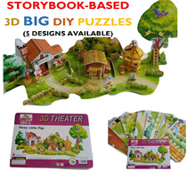 (Restocked) 3D Kids/Children BIG Puzzles  / Educational Fun Storybook-based / Beautiful Detailed Printing / Family Bonding Activity / Suitable for Kids Adults / Thick Big for Gift