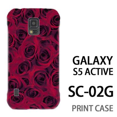 GALAXY S5 Active SC-02G 用『0111 一面の薔薇 赤』特殊印刷ケース【 galaxy s5 active SC-02G sc02g SC02G galaxys5 ギャラクシー ギャラクシーs5 アクティブ docomo ケース プリント カバー スマホケース スマホカバー】の画像
