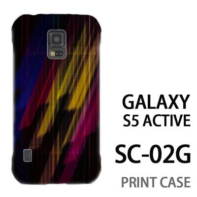 GALAXY S5 Active SC-02G 用『No3 カラフル閃光』特殊印刷ケース【 galaxy s5 active SC-02G sc02g SC02G galaxys5 ギャラクシー ギャラクシーs5 アクティブ docomo ケース プリント カバー スマホケース スマホカバー】の画像