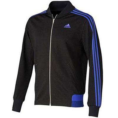 アディダス(adidas) M adidas24/7 アイコニック ウォームアップジャケット ADJ KBY20 S92673 ブラック/ナイトフラッシュ 【メンズ ジャージ トレーニングウェア ジャケット】の画像