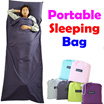 PORTABLE! Sleeping Bag / Cotton / Close Anti-dust / Outdoor Fitting/ Camping Hiking / Hotel Envelope