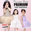 ❤T+K❤14th Nov New Designs❤FREE Tiara Crown❤Kids Princess Dresses ❤CUTE and PRETTY flower girl Dress★ Kids★Little Girl Party Dress/ Children fashion ★party dinner wedding dress