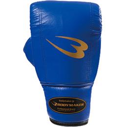 ボディメーカー(BODYMAKER) プロ仕様パンチンググローブ(ラバーベルト) KG014 ブルー 【格闘技 アクセサリー グローブ】