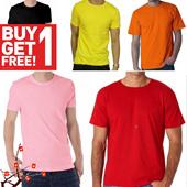 Buy 1 Get 1 Free kaos polos pria berkwalitas