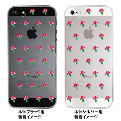 【iPhone5S】【iPhone5】【Clear Fashion】【iPhone5ケース】【カバー】【スマホケース】【クリアケース】【ピンクきのこ】 ip5-22-ca0017の画像