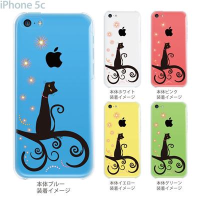 【iPhone5c】【iPhone5c ケース】【iPhone5c カバー】【ケース】【カバー】【スマホケース】【クリアケース】【クリアーアーツ】【ネコ】 21-ip5c-ca0014の画像