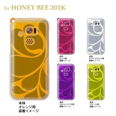 【HONEY BEE ケース】【201K】【Soft Bank】【カバー】【スマホケース】【クリアケース】【トランスペアレンツ】【レトロ】 06-201k-ca0021iの画像