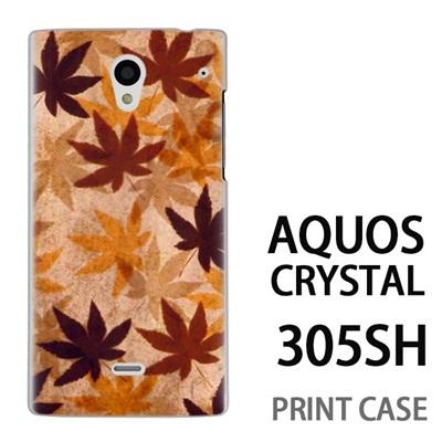 AQUOS CRYSTAL 305SH 用『No3 カエデ』特殊印刷ケース【 aquos crystal 305sh アクオス クリスタル アクオスクリスタル softbank ケース プリント カバー スマホケース スマホカバー 】の画像