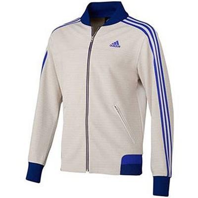 アディダス(adidas) M adidas24/7 アイコニック ウォームアップジャケット ADJ KBY20 S92674 パールグレイ/ナイトフラッシュ 【メンズ ジャージ トレーニングウェア ジャケット】の画像