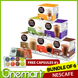 [DOLCE GUSTO] x 6 Boxes ★ Coffee Capsules Box of 8/16