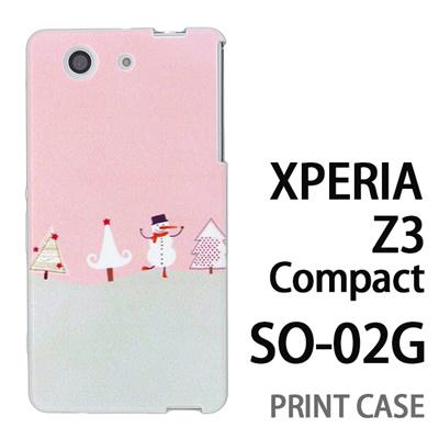 XPERIA Z3 Compact SO-02G 用『1218 ノリノリ雪だるま 紫』特殊印刷ケース【 xperia z3 compact so-02g so02g SO02G xperiaz3 エクスペリア エクスペリアz3 コンパクト docomo ケース プリント カバー スマホケース スマホカバー】の画像