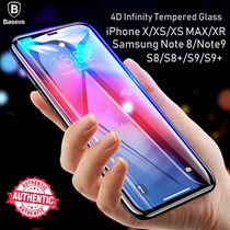 ❤Baseus 4D Infinity Tempered Glass iPhone XS XR X 7 8 Samsung Note 9 8 S9 S8 plus screen protector ❤