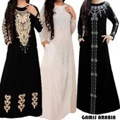 Gamis Arabia//Swarovski/Bordir//Size M-XL // busana muslim gamis manset muslim fashion trendy muslim fashion kaftan