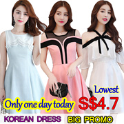 24/6 Korean dresses/Occupation/Casual/chiffon/lace/suit/Office/Leisure/Bridesmaid/Short/strapless