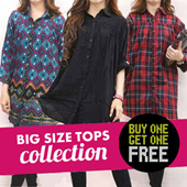 [23 APRIL] LIMITED TIME BUY 1 GET 1 BIG SIZE TOPS COLLECTION