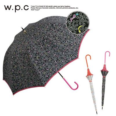 ワールドパーティー w.p.c 長傘 蛇とネコ レディース 1024-03 かさ カサ ブランド おしゃれ メンズ レディース 男性 女性 通販の画像