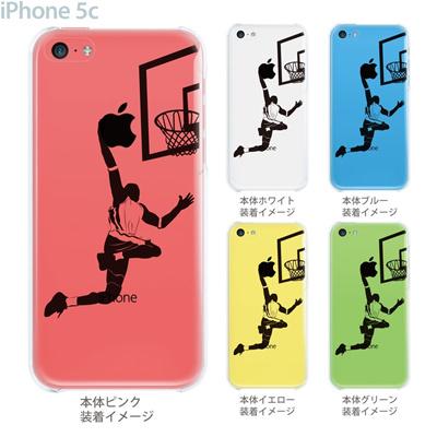 【iPhone5c】【iPhone5c ケース】【iPhone5c カバー】【クリア ケース】【iPhone】【カバー】【スマホケース】【クリアケース】【イラスト】【クリアーアーツ】【バスケットボール・ダンク】 08-ip5c-ca0112の画像