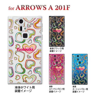 【ARROWS ケース】【201F】【Soft Bank】【カバー】【スマホケース】【クリアケース】【フラワー】【Vuodenaika】 21-201f-ne0004caの画像