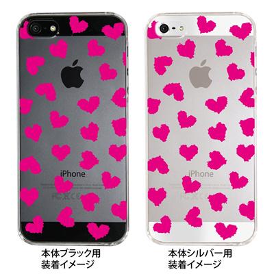 【iPhone5S】【iPhone5】【Clear Fashion】【iPhone5ケース】【カバー】【スマホケース】【クリアケース】【ハート】 ip5-22-ca0019の画像