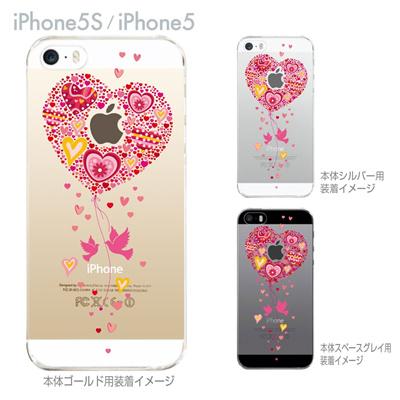 【iPhone5S】【iPhone5】【iPhone5sケース】【iPhone5ケース】【カバー】【スマホケース】【クリアケース】【クリアーアーツ】【ハート】 09-ip5s-th0007の画像