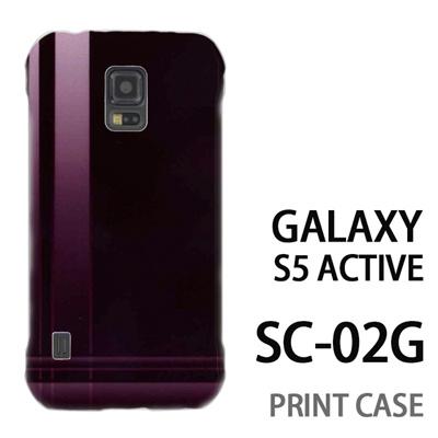 GALAXY S5 Active SC-02G 用『No3 クロスライン 茶色』特殊印刷ケース【 galaxy s5 active SC-02G sc02g SC02G galaxys5 ギャラクシー ギャラクシーs5 アクティブ docomo ケース プリント カバー スマホケース スマホカバー】の画像